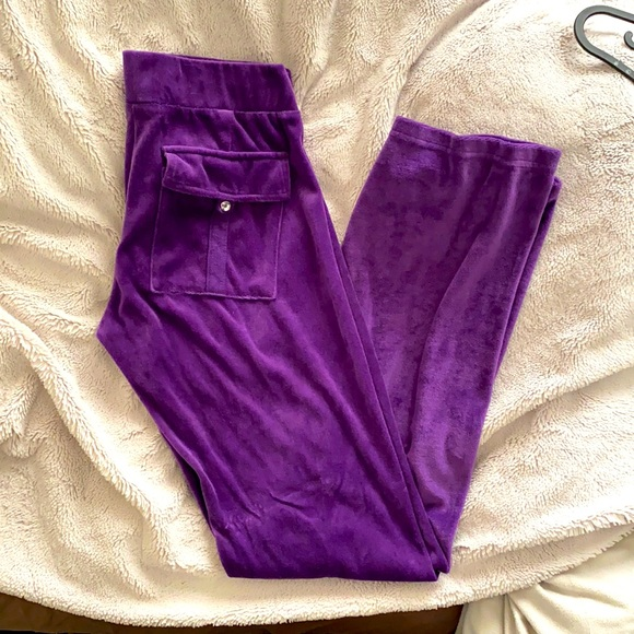 Velour tracksuit pants